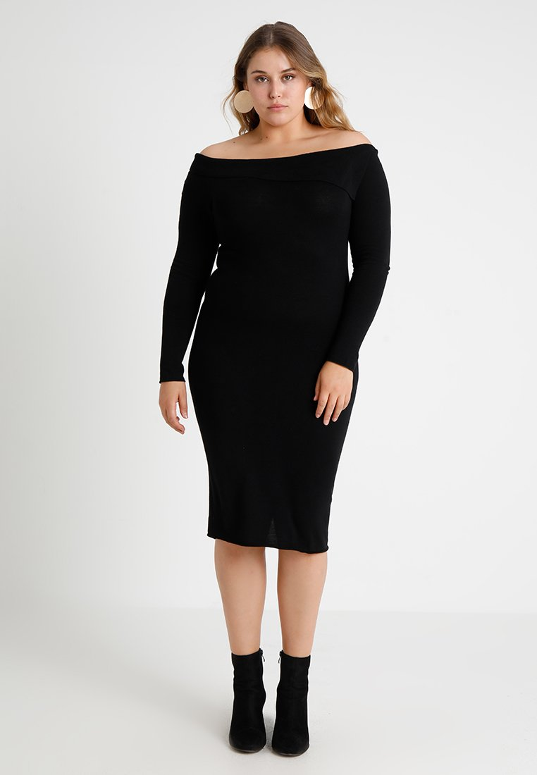 Lost Ink Plus - BODYCON DRESS - Etuikleid - black