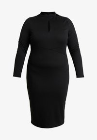 Lost Ink Plus - PLUNGE BODYCON DRESS - Etuikjole - black - 3