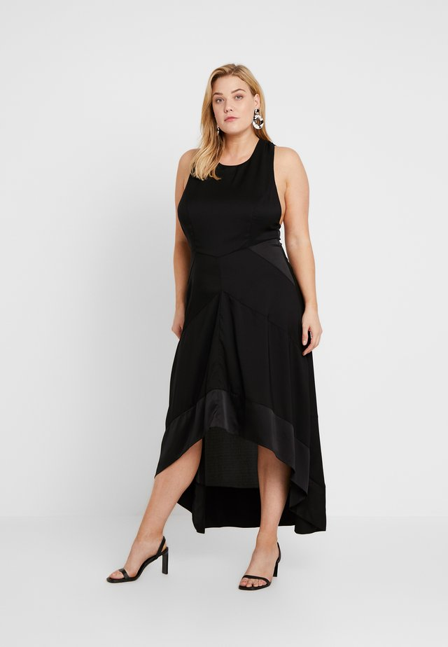 HALTER NECK MIDI DRESS - Vestito estivo - black