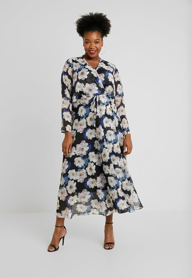 FLORAL PRINT WRAP DRESS - Vestito estivo - multi