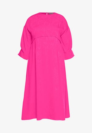 TRIM DETAIL MIDI DRESS - Korte jurk - pink