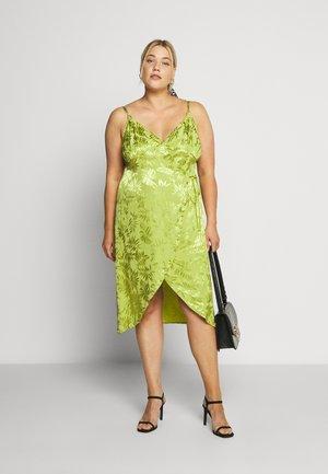 JACQUARD WRAP STRAPPY MIDI DRESS - Day dress - green