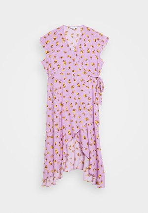 FLORAL WRAP - Day dress - purple
