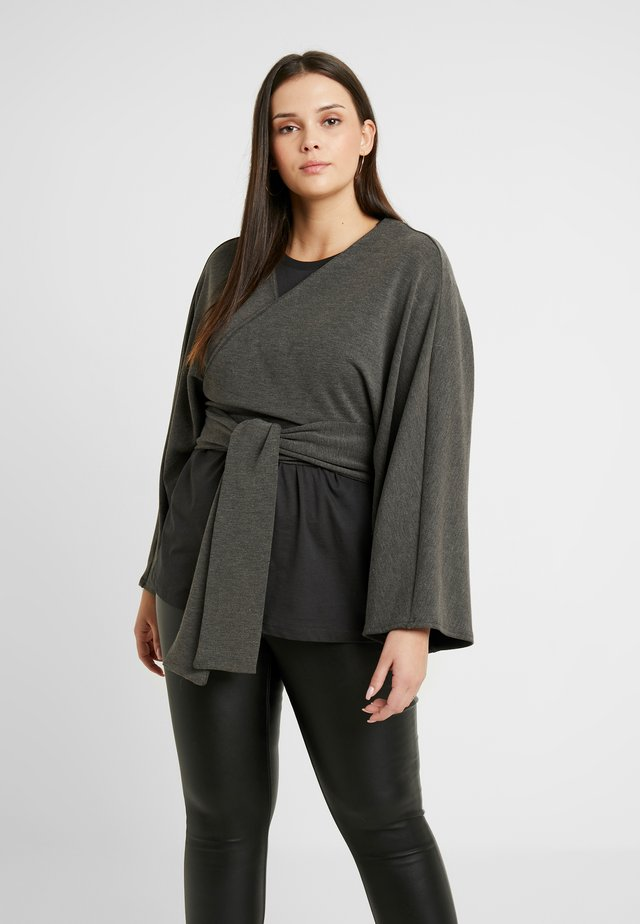 BATWING - T-shirt à manches longues - grey