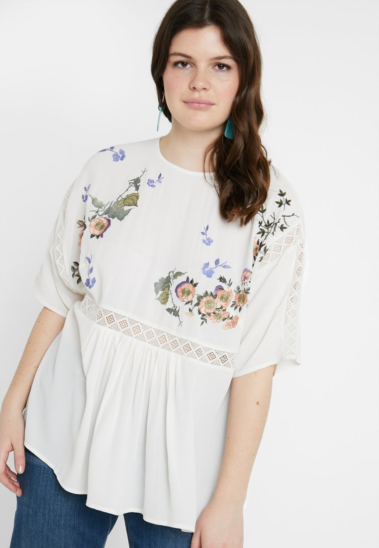Lost Ink Plus - Blouse - cream