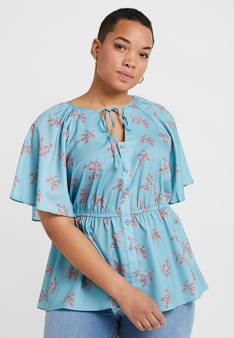 Lost Ink Plus - BLOUSE IN BLUES DITSY PRINT - Bluse - multiprint blue