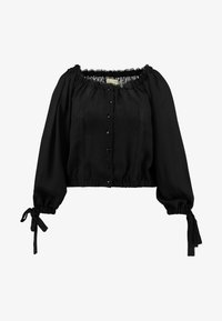 Lost Ink Plus - BARDOT WITH TRIMS - Blouse - black - 4