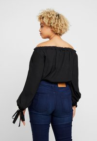 Lost Ink Plus - BARDOT WITH TRIMS - Blouse - black - 2