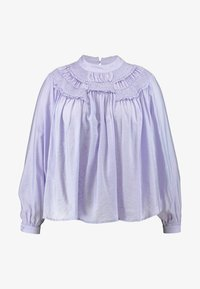 Lost Ink Plus - SHIRRED DETAIL FRONT BLOUSE - Blouse - purple - 4
