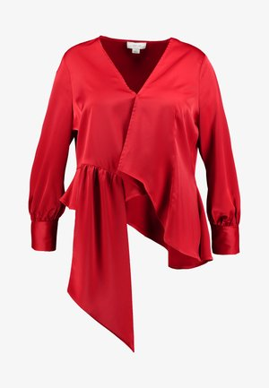 ASYM WRAP DETAIL BLOUSE - Blusa - red