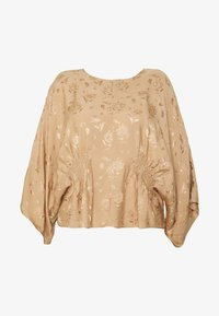 Lost Ink Plus - KIMONO SLEEVE BLOUSE - Blusa - beige - 4