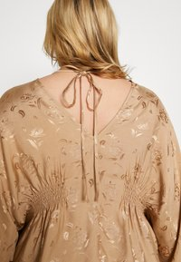 Lost Ink Plus - KIMONO SLEEVE BLOUSE - Blusa - beige - 5