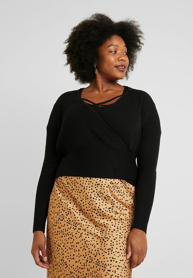 BALLET WRAP JUMPER - Pullover - black