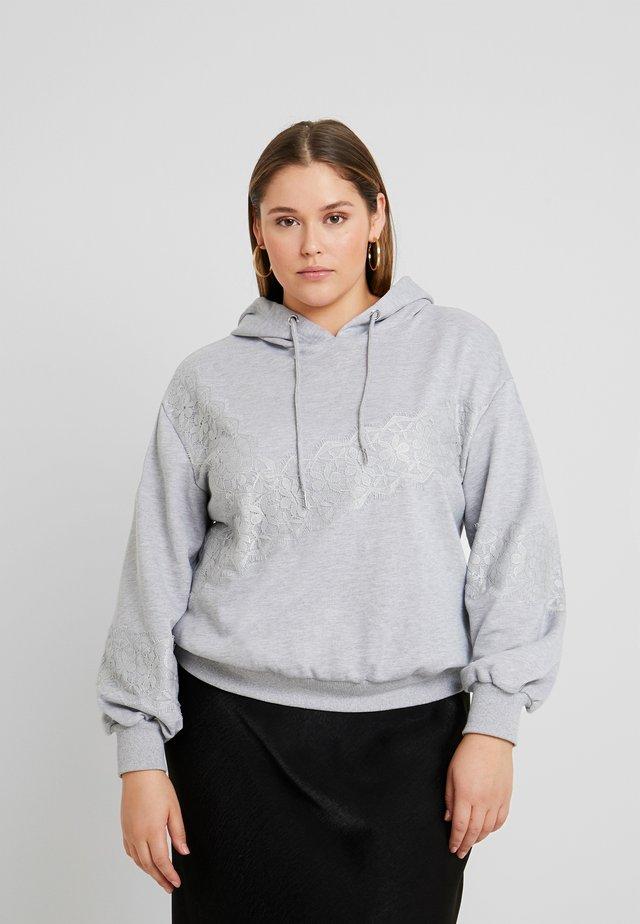 LACE INSERT SWEAT - Huppari - grey