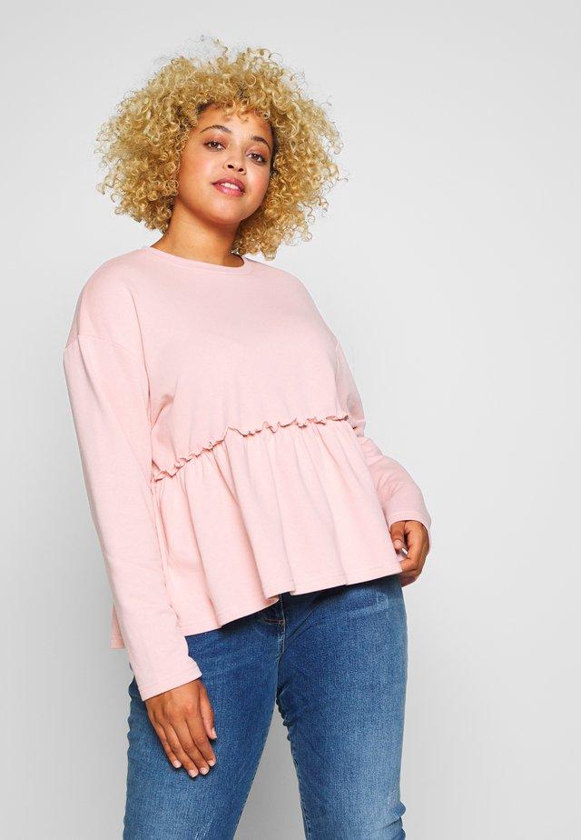 FRILL HEM - Sweatshirt - pink