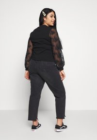 Lost Ink Plus - WRAP FRONT LACE SLEEVE - Mikina - black - 2