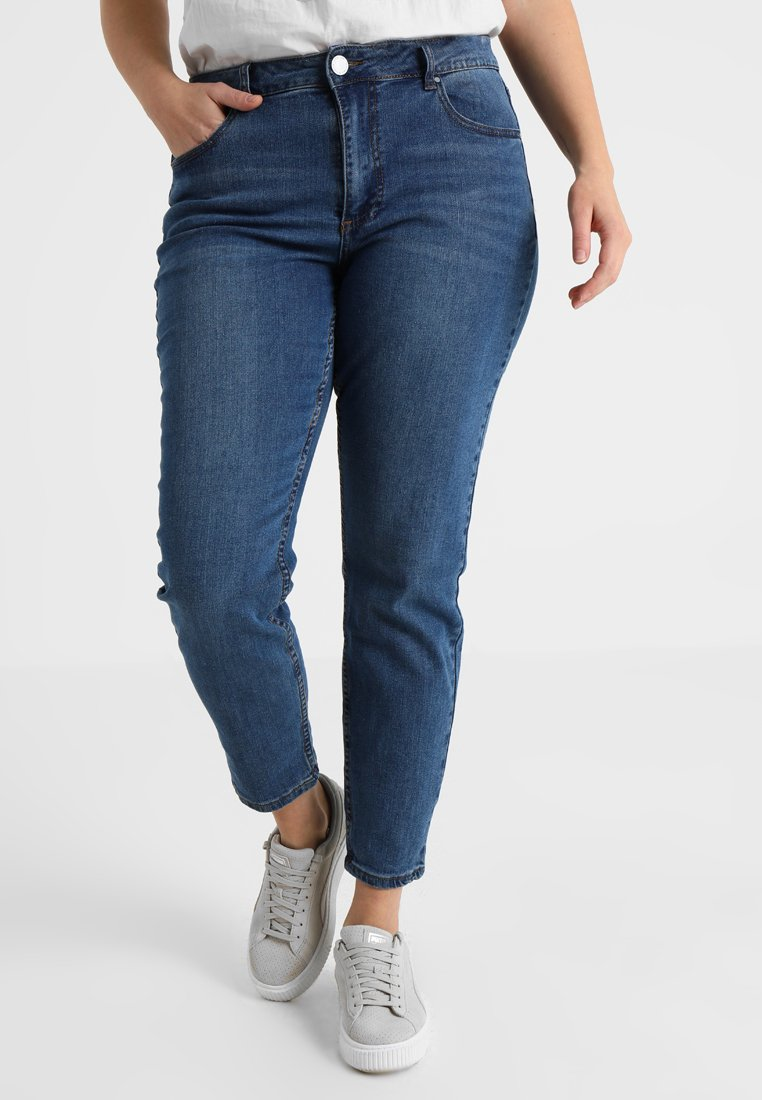 Lost Ink Plus - IN CHIA - Slim fit jeans - mid blue