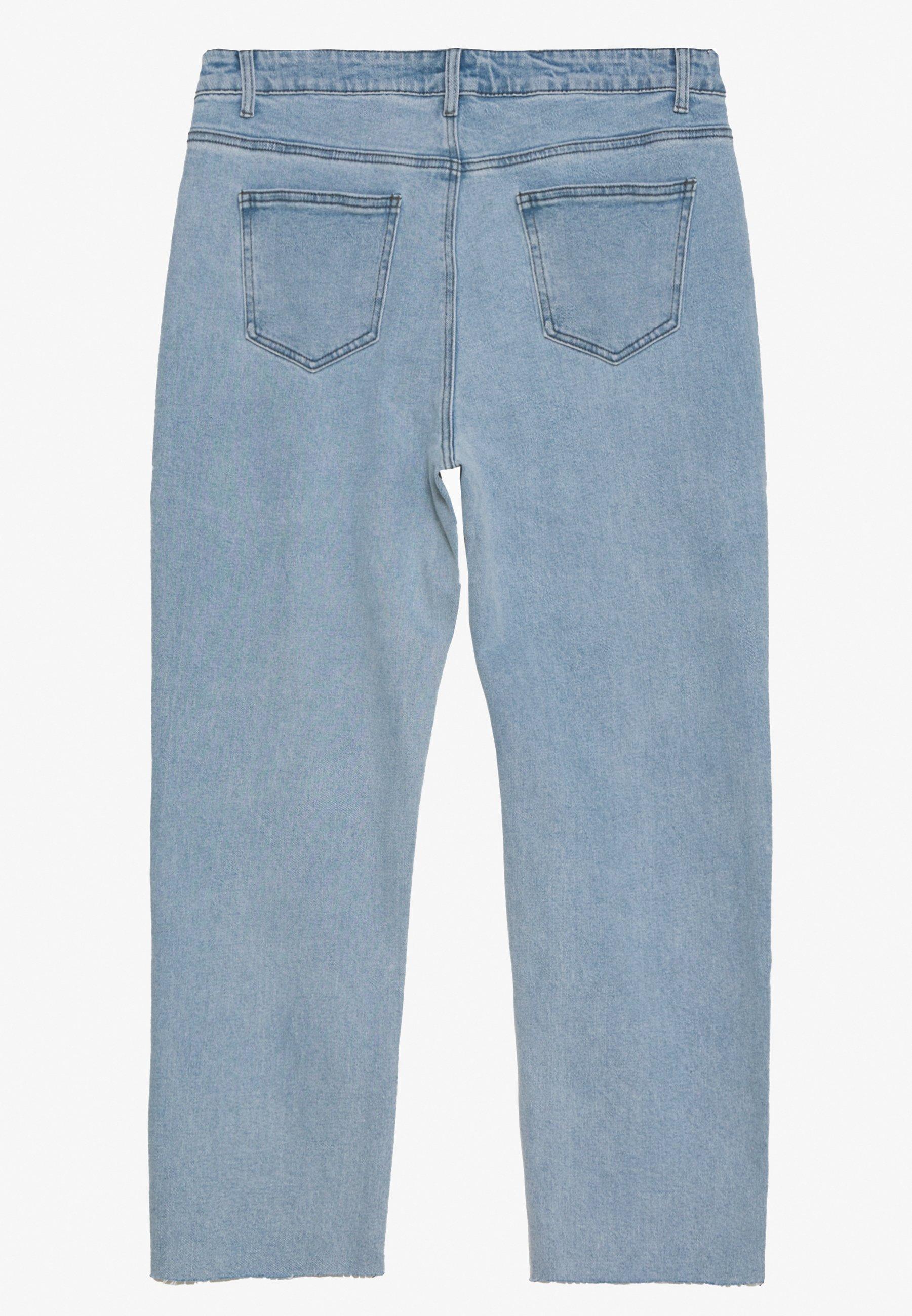 Lost Ink Plus STRAIGHT EARL - Jeans a sigaretta - light denim