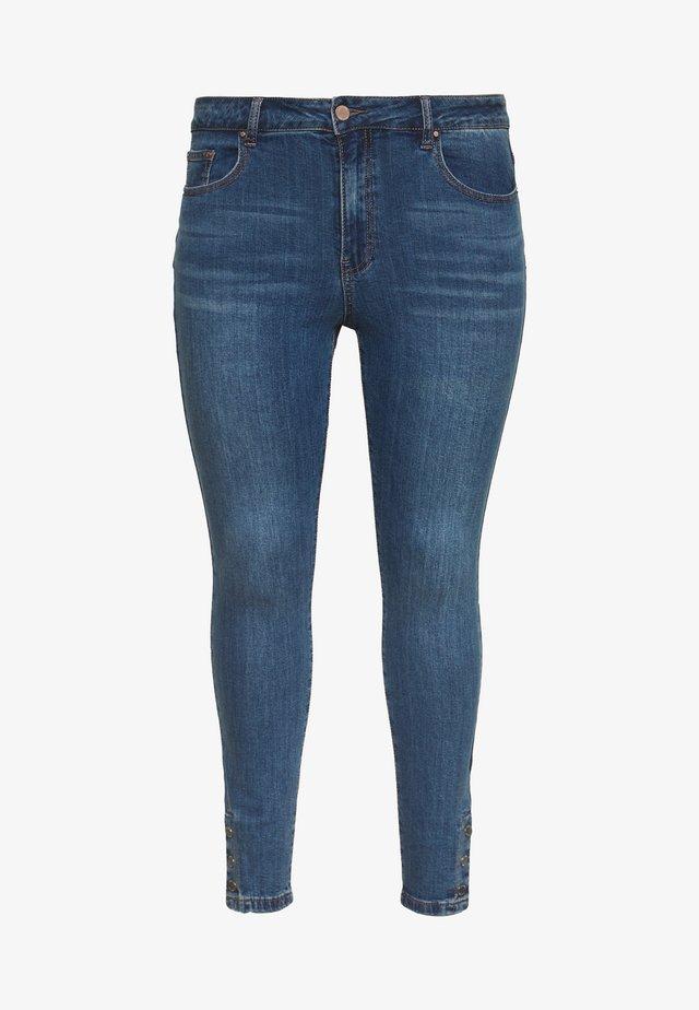 POPPER HEM DETAIL - Skinny džíny - mid denim