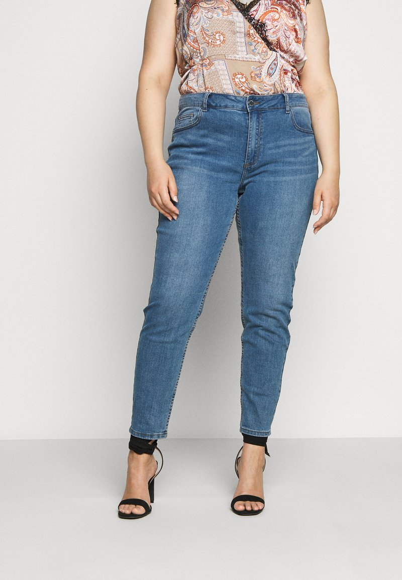 Lost Ink Plus - Jeans Skinny Fit - mid blue