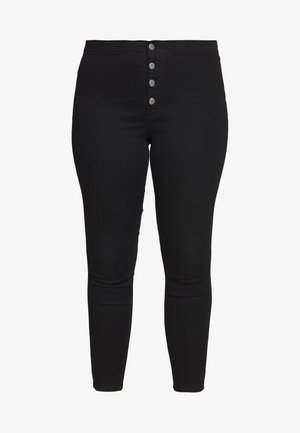 BUTTON FRONT  - Jeans Skinny - black