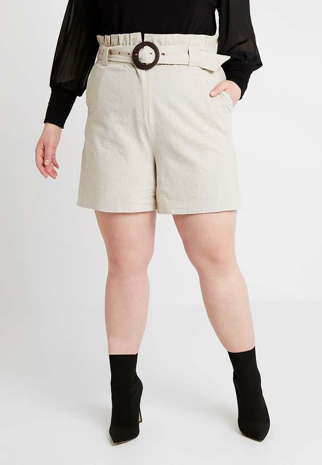 WITH BUCKLE - Shorts - beige