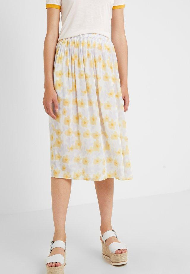 LONG SEVERIN - A-line skirt - tapioca