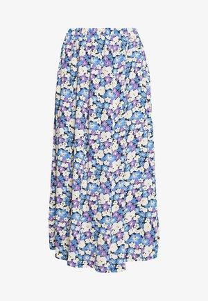 LONG SEVERIN - A-line skirt - chalk/violet