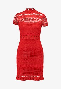 Love Triangle - DOUBLE DOLCE MINI CAP SLEEVE DRESS - Day dress - bright red - 3