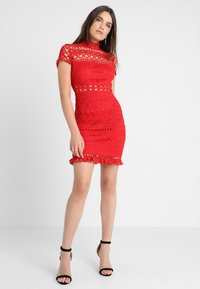 Love Triangle - DOUBLE DOLCE MINI CAP SLEEVE DRESS - Day dress - bright red - 1