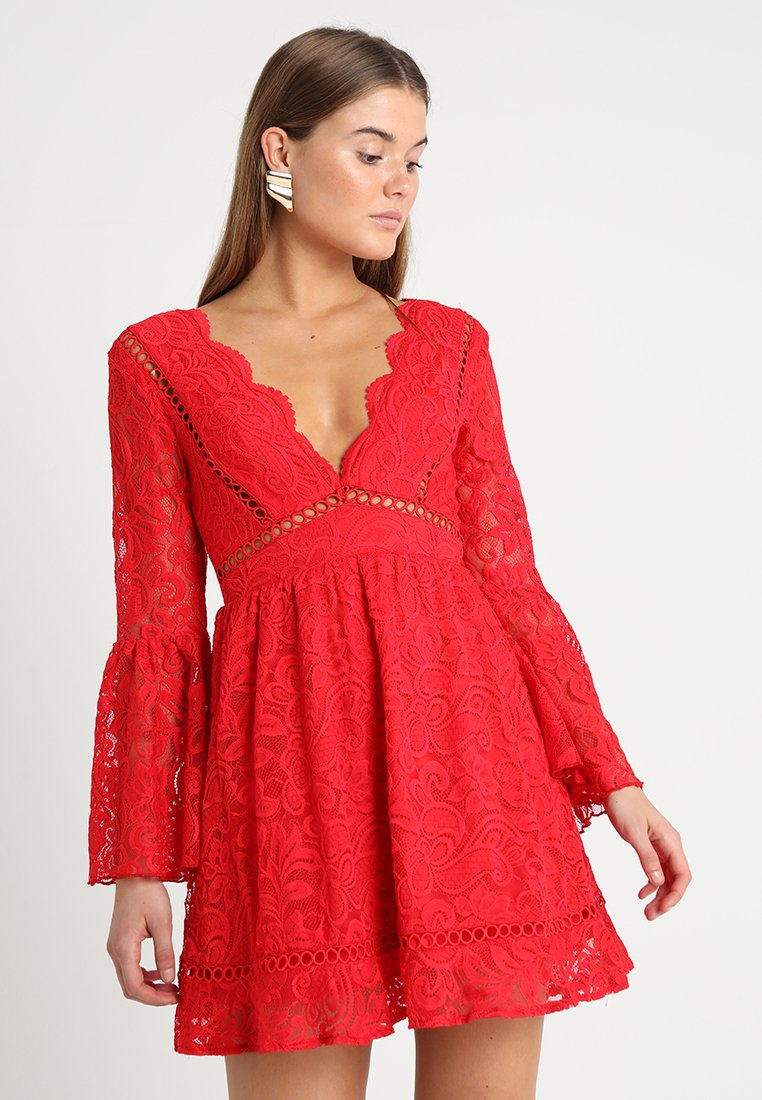 Love Triangle - QUEEN OF HEARTS DRESS - Cocktailjurk - red