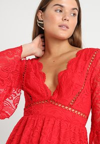 Love Triangle - QUEEN OF HEARTS DRESS - Cocktailjurk - red - 3