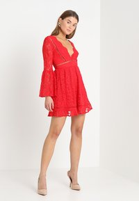 Love Triangle - QUEEN OF HEARTS DRESS - Cocktailjurk - red - 1