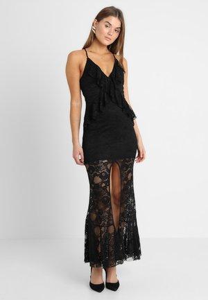 RUBY FRILL MAXI DRESS - Společenské šaty - black