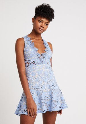 DANUBE MINI DRESS - Sukienka koktajlowa - blue
