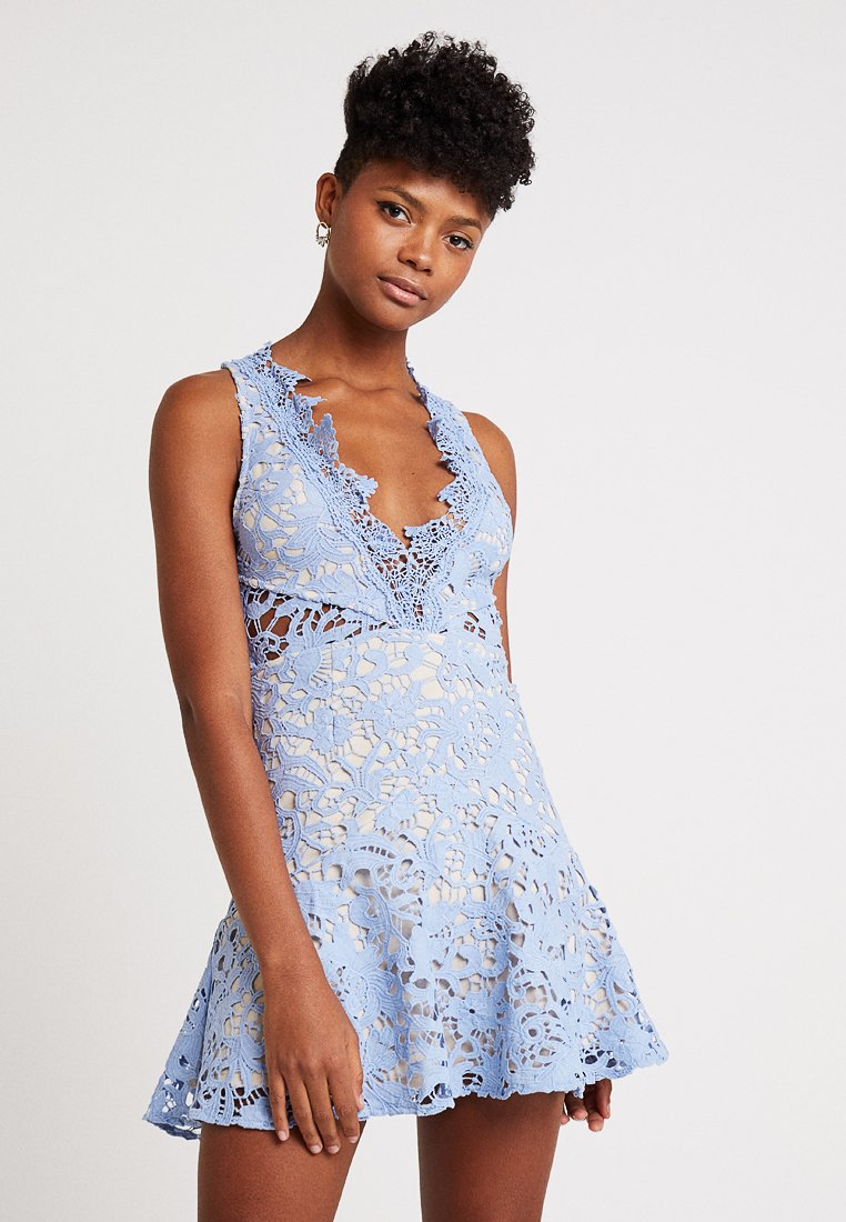 Love Triangle - DANUBE MINI DRESS - Cocktail dress / Party dress - blue