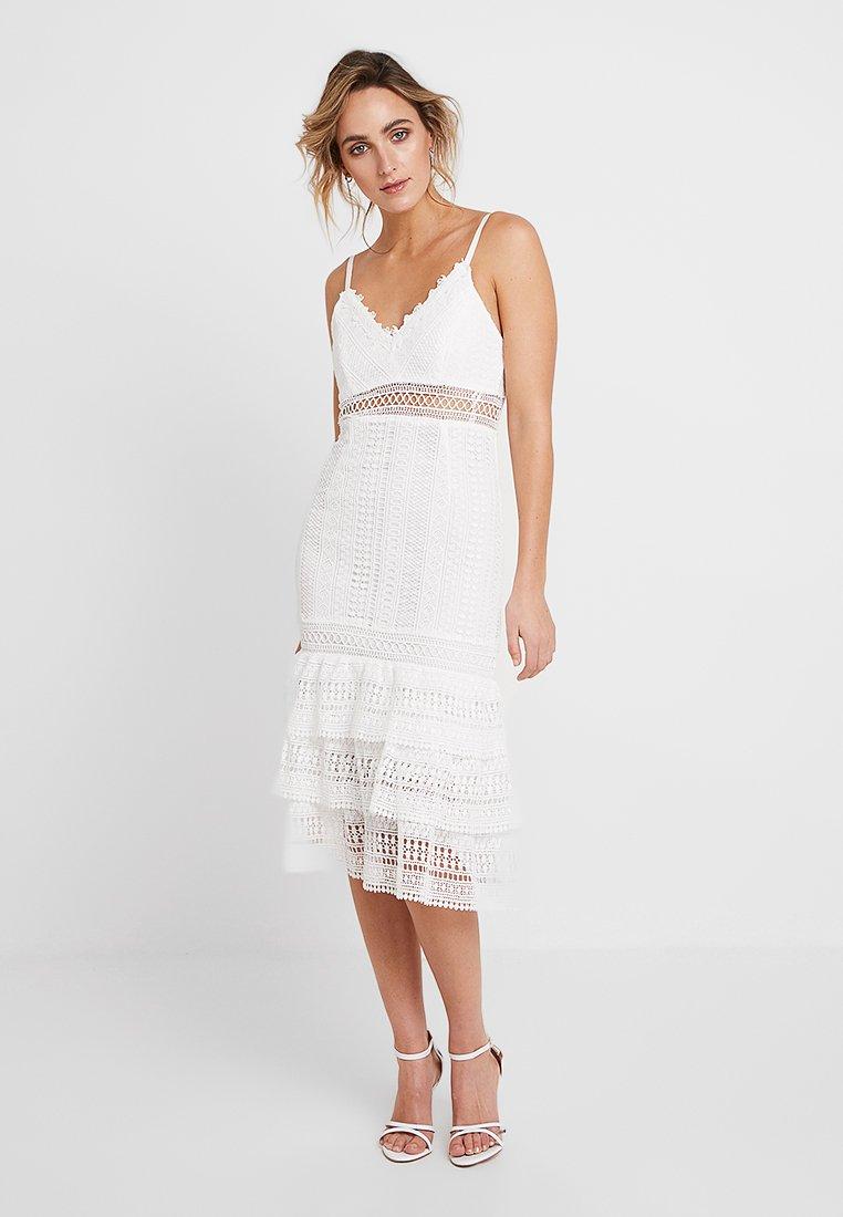 Love Triangle - WINDSWEPT MIDI DRESS - Cocktail dress / Party dress - white