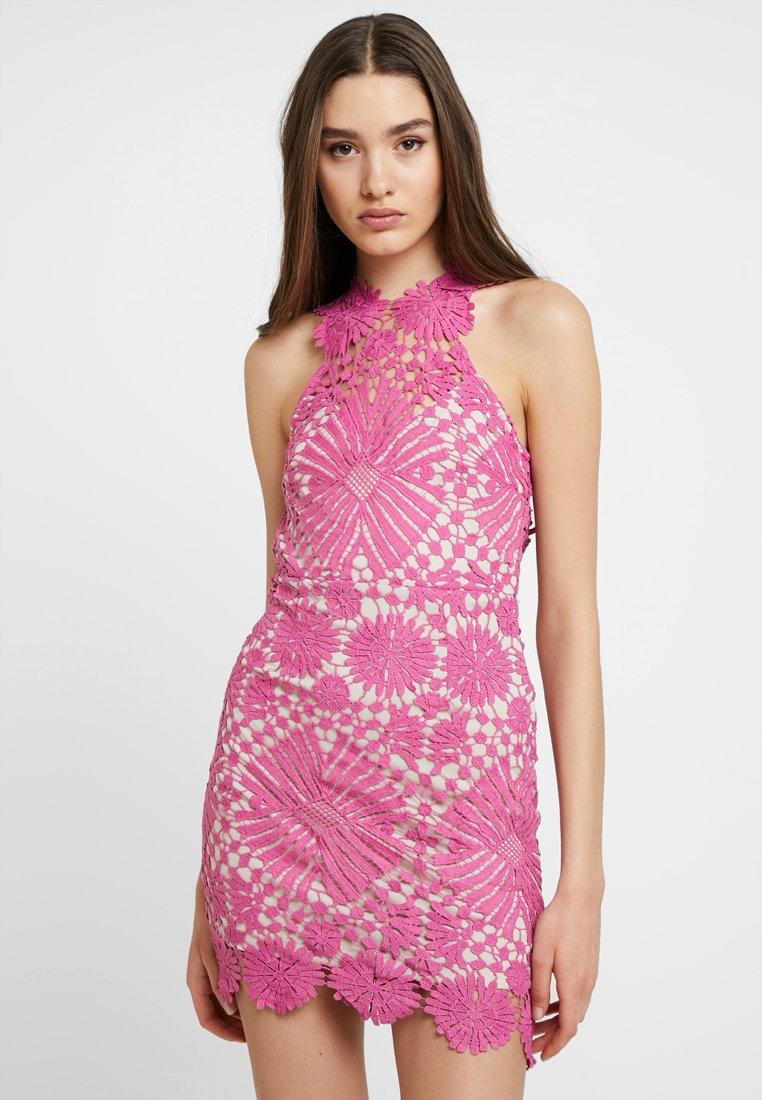 Love Triangle - FLOWER BOMB DRESS - Cocktail dress / Party dress - fuschia pink