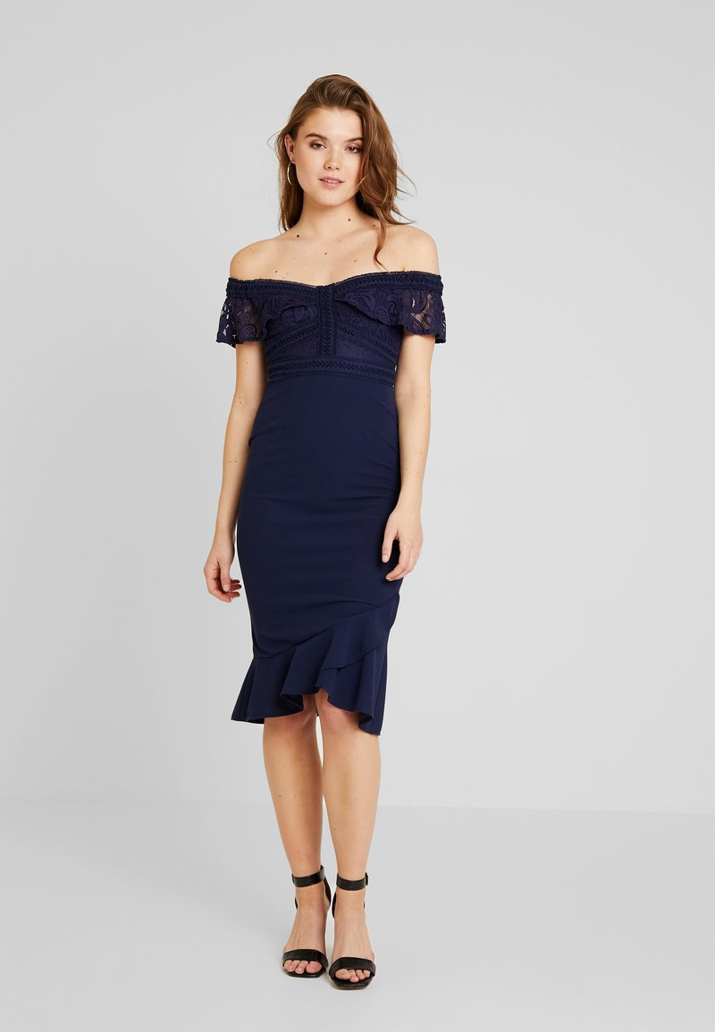 Love Triangle - REIGN SUPREME MIDI DRESS - Koktejlové šaty / šaty na párty - navy