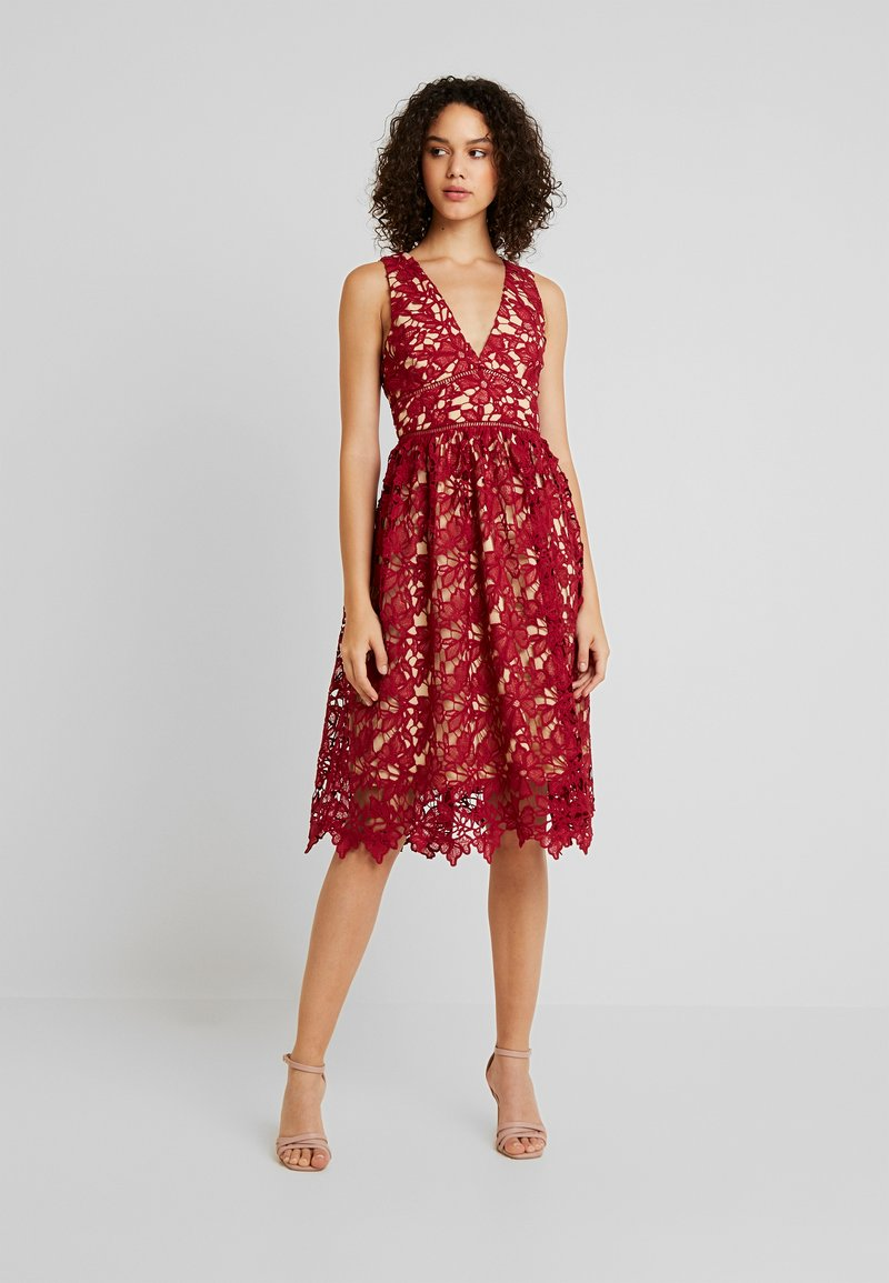 Love Triangle - A LINE THICK STRAP - Cocktail dress / Party dress - berry