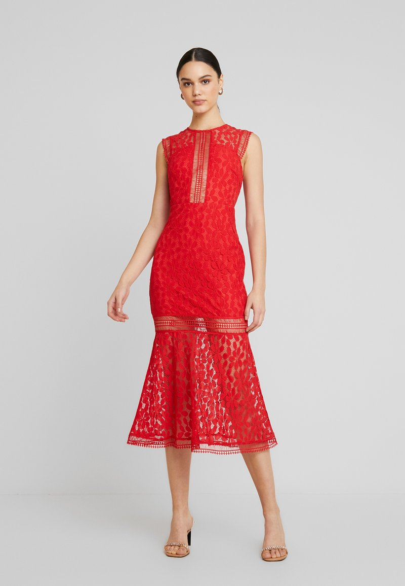 Love Triangle - THE TANGO MIDAXI DRESS - Occasion wear - red