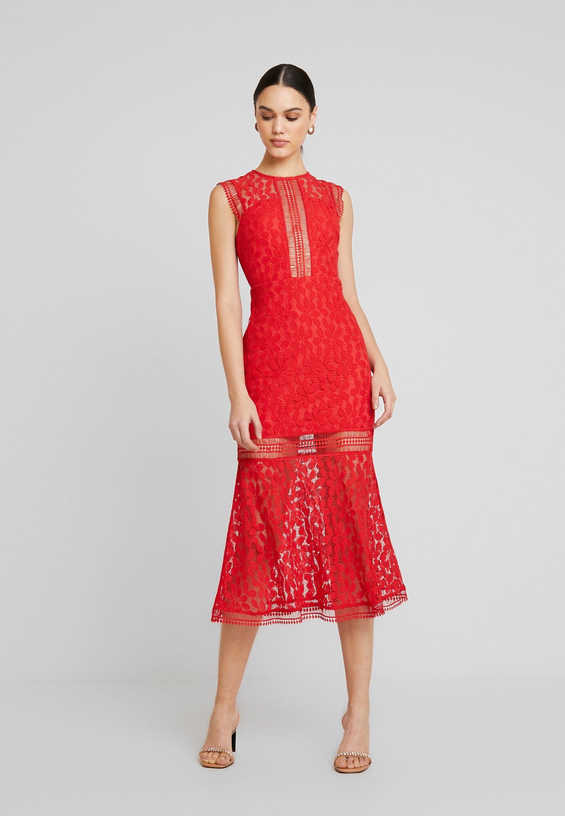 Love Triangle The Tango Midaxi Dress - Gallakjole Red