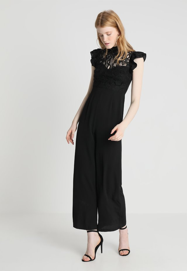 HUNTER FRILL SHOULDER - Jumpsuit - black
