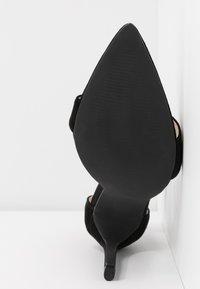 Lost Ink Wide Fit - POINTED BARELY THERE  - Sandály na vysokém podpatku - black - 6