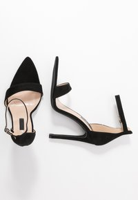 Lost Ink Wide Fit - POINTED BARELY THERE  - High heeled sandals - black - 3