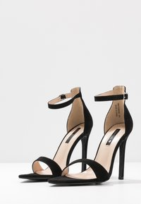 Lost Ink Wide Fit - POINTED BARELY THERE  - High heeled sandals - black - 4