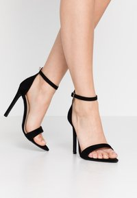 Lost Ink Wide Fit - POINTED BARELY THERE  - High heeled sandals - black - 0