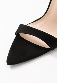 Lost Ink Wide Fit - POINTED BARELY THERE  - High heeled sandals - black - 2