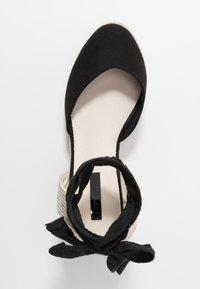 Lost Ink Wide Fit - ANKLE WRAP WEDGE  - Sandály na vysokém podpatku - black - 3