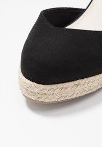 Lost Ink Wide Fit - ANKLE WRAP WEDGE  - Sandály na vysokém podpatku - black - 2